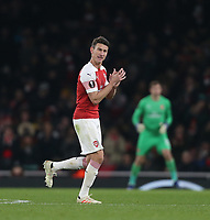 Arsenal's Laurent Koscielny leaves the pitch after being substituted<br /> <br /> Photographer Rob Newell/CameraSport<br /> <br /> UEFA Europa League Group E - Arsenal v FK Qarabag - Thursday 13th December 2018 - Emirates Stadium - London<br />  <br /> World Copyright © 2018 CameraSport. All rights reserved. 43 Linden Ave. Countesthorpe. Leicester. England. LE8 5PG - Tel: +44 (0) 116 277 4147 - admin@camerasport.com - www.camerasport.com