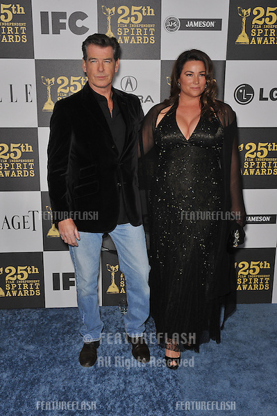 Pierce Brosnan & Keely Brosnan at the 25th Anniversary Film Independent Spirit Awards at the L.A. Live Event Deck in downtown Los Angeles..March 5, 2010  Los Angeles, CA.Picture: Paul Smith / Featureflash
