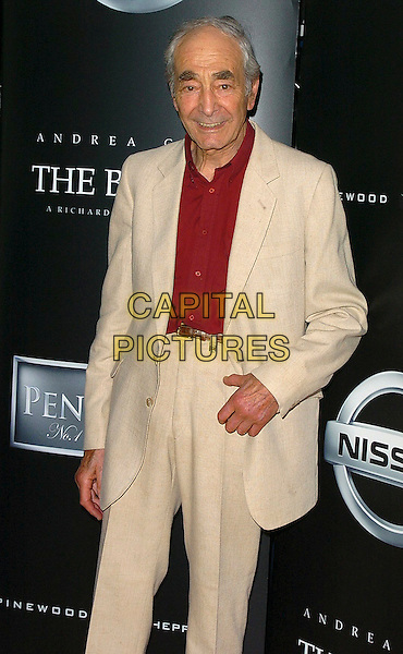"LEONARD FENTON.""The Bridge"" Short Film Premiere at the Odeon West End, London..July 14th, 2005.half length white suit jacket red shirt trousers pulled up high.www.capitalpictures.com.sales@capitalpictures.com.©Capital Pictures"
