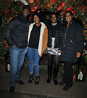 Adrian Lester, Lila Lester, Jasmine Lester and Lolita Chakrabarti at the Ivy Chelsea Garden's Guy Fawkes party, The Ivy Chelsea Garden, King's Road, London, England, UK, on Sunday 04 November 2018.<br /> CAP/CAN<br /> &copy;CAN/Capital Pictures