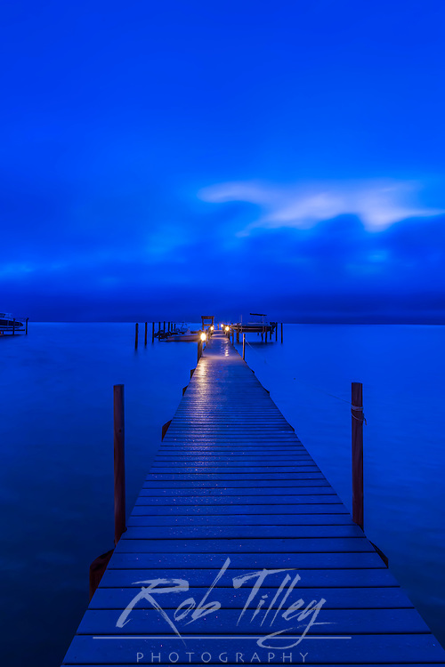 Florida, Sanibel, Private Dock at Dawn