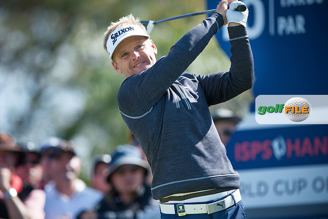 Soren Kjeldsen (DEN) during round 3 at the ISPS Handa World Cup of Golf, from Kingston heath Golf Club, Melbourne Australia. 26/11/2016<br /> Picture: Golffile | Anthony Powter<br /> <br /> <br /> All photo usage must carry mandatory copyright credit (&copy; Golffile | Anthony Powter)