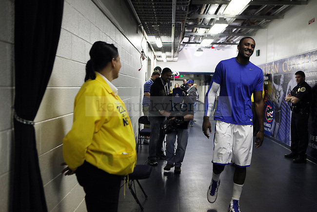 Patrick Patterson walks out to warm up for the SEC Finals on Sunday, March 14, 2010. Photo by Britney McIntosh | Staff