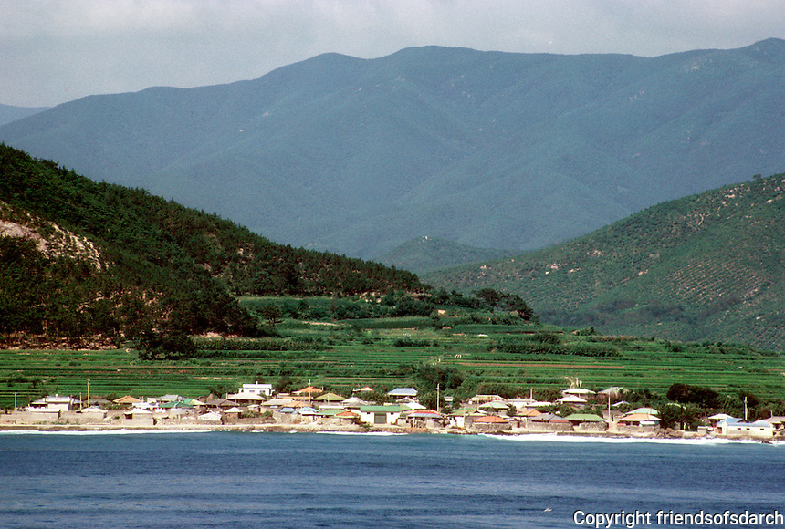 So. Korea: Coastal village--from ship. Photo '81.