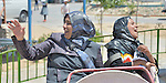 Two women, mothers of children traumatized by war, enjoy a trip to an amusement park in Gaza City. The outing was sponsored by the Al Ahli Arab Hospital, a member of the ACT Alliance, and financed by the Pontifical Mission for Palestine and Misereor.