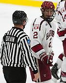 Stephen Drain, Tyler Moy (Harvard - 2) - The Harvard University Crimson defeated the US National Team Development Program's Under-18 team 5-2 on Saturday, October 8, 2016, at the Bright-Landry Hockey Center in Boston, Massachusetts.