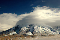 """At a height of 7,546 meters, one of the most spectacular sights along the Karakoram Highway is Mount Muztagh Ata. Known to the Tajiks as """" the father of all ice mountains,"""" the mountain was once a place of pilgrimage where worshipers would prostrate themselves in front of the massive glaciers that tower above the valley. More recently, it has become one of the top mountaineering destinations in all of China.."""