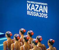 ESP - Spain<br /> BASIANA Clara CABELLO Alba<br /> CAMACHO Clara JIMENEZ Cecilia<br /> KLAMBURG Paula LEVY Sara<br /> MAS Meritxell SALVADOR Cristina<br /> Team Free Preliminary<br /> Day5 28/07/2015<br /> XVI FINA World Championships Aquatics<br /> Synchro<br /> Kazan Tatarstan RUS July 24 - Aug. 9 2015 <br /> Photo Pasquale Mesiano/Deepbluemedia/Insidefoto