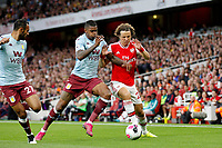 David Luiz of Arsenal during the Premier League match between Arsenal and Aston Villa at the Emirates Stadium, London, England on 22 September 2019. Photo by Carlton Myrie / PRiME Media Images.