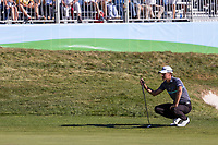 Jason SCRIVENER (AUS) during the third round of the Mutuactivos Open de Espana, Club de Campo Villa de Madrid, Madrid, Madrid, Spain. 05/10/2019.<br /> Picture Hugo Alcalde / Golffile.ie<br /> <br /> All photo usage must carry mandatory copyright credit (© Golffile | Hugo Alcalde)