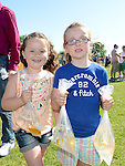 Sinead Mullarkey and Clionadh Russell pictured at Tullyallen Sports Day. Photo:Colin Bell/pressphotos.ie