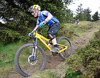 18th May 2014; Scott Wallace in action during th Gravity Enduro Mountain Biking Round 2 event at Ticknock Hill, Co Dublin. Picture credit: Tommy Grealy/actionshots.ie.