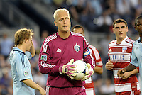 Jimmy Nielsen Sporting KC goalkeeper... Sporting KC defeated FC Dallas 2-1 at LIVESTRONG Sporting Park, Kansas City, Kansas.