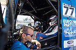 German driver Rene Reinert belonging German team Rene Reinert during the fist race R1 of the XXX Spain GP Camion of the FIA European Truck Racing Championship 2016 in Madrid. October 01, 2016. (ALTERPHOTOS/Rodrigo Jimenez)
