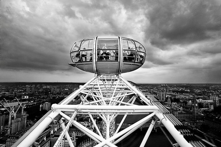 Inside the London Eye- Seen from the top
