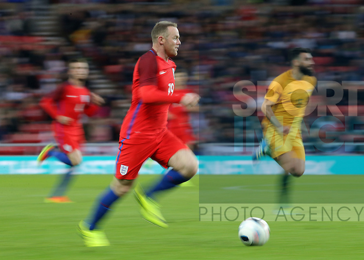 Wayne Rooney of England during the International Friendly match at the Stadium of Light, Sunderland. Photo credit should read: Simon Bellis/Sportimage