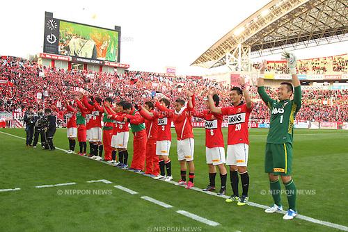 Urawa Red Diamonds team group, .MARCH 20, 2012 - Football /Soccer : .2012 J.LEAGUE Yamazaki Nabisco Cup .between Urawa Red Diamonds 1-0 Vegalta Sendai .at Saitama Stadium 2002, Saitama, Japan. .(Photo by YUTAKA/AFLO SPORT) [1040]