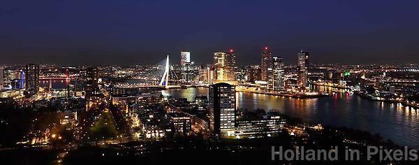 Nederland - Rotterdam -  2019. Rotterdam bij avond.   Foto Berlinda van Dam / Hollandse Hoogte