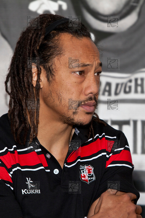Tana Umaga fronted a press conference with fellow Steelers Coach Milton Haig today as part of his first day on the job for the Counties Manukau Rugby Union.  Tana Umaga press conference held at Growers Stadium Pukekohe on Tuesday 22nd June 2010.