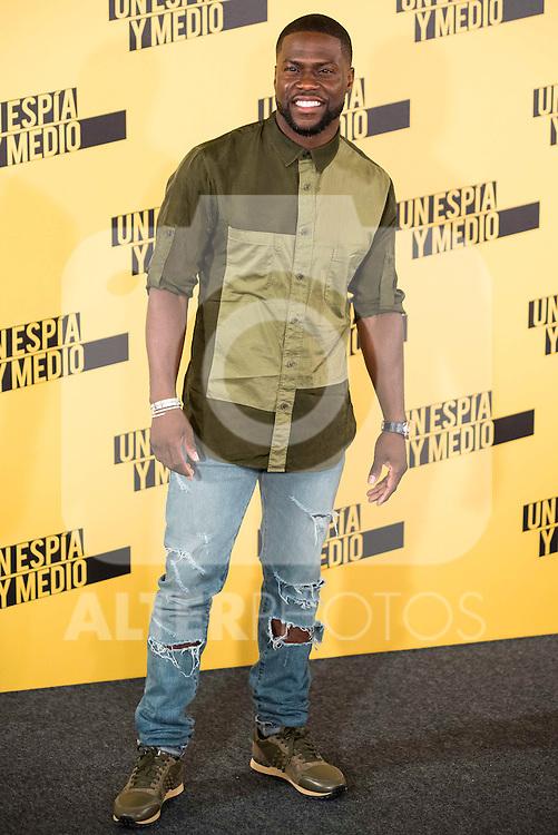"""American actor Kevin Hart during the presentation of the film """"Un espia y medio"""" at Hotel Villa Magna in Madrid. June 07. 2016. (ALTERPHOTOS/Borja B.Hojas)"""