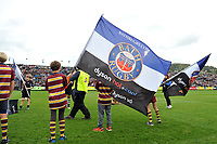 A general view of a Bath Rugby flag. Aviva Premiership match, between Bath Rugby and Worcester Warriors on October 7, 2017 at the Recreation Ground in Bath, England. Photo by: Patrick Khachfe / Onside Images