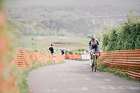 race leader Jerome Baugnies (BEL/Wanty-Groupe Gobert) solo up La Redoute<br /> <br /> 104th Liège - Bastogne - Liège 2018 (1.UWT)<br /> 1 Day Race: Liège - Ans (258km)