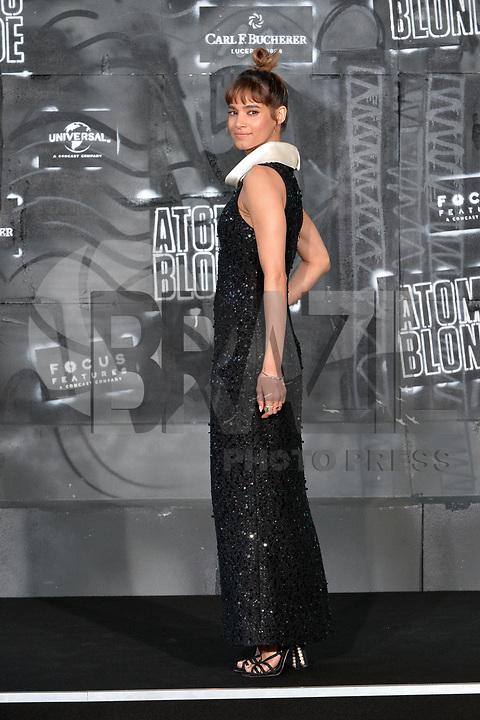 BERLIN, ALEMANHA, 17.07.2017 - PREMIERE-BERLIN - Sofia Boutella  durante premiere de Atomic Blonde em Berlin na Alemanha ontem segunda-feira, 17. (Foto: Timm/Brazil Photo Press)