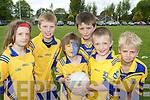 On the ball at the Beaufort GAA La na gClub on Sunday was l-r: Hannah O'Donoghue, Ian McGillicuddy, Keelan O'Connor, Sean Coffey, Eoin O'Hagan and Liam Kerins .