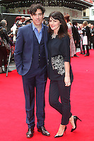 Stephen Mangan and Louise Delamere arriving for the Postman Pat Premiere, Odeon West End, London. 11/05/2014 Picture by: Alexandra Glen / Featureflash
