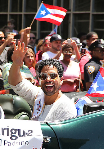NEW YORK, NY - JUNE 12: Adam Rodriguez at the 59th annual National Puerto Rican Day Parade in New York, New York on June 12,  2016.  Photo Credit: Rainmaker Photo/MediaPunch