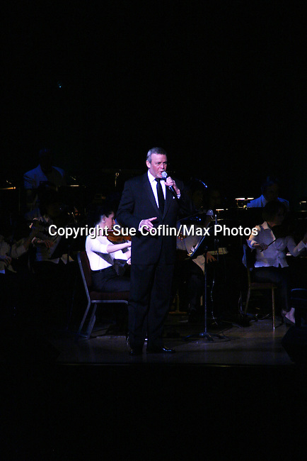 Ron Raines performs Jerry Herman's Broadway with the National Symphony Orchestra at The John F. Kennedy Center for Performing Arts on March 14, 2009, in Washington D.C. (Photo by Sue Coflin/Max Photos)