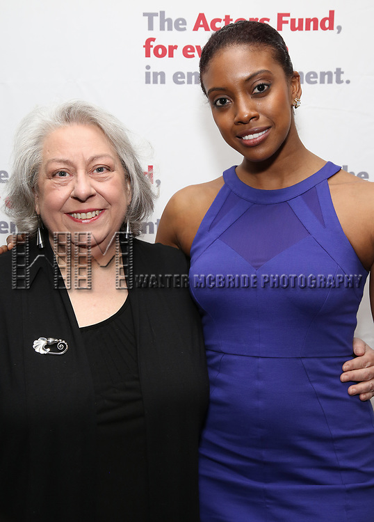 Jayne Houdyshell and Condola Rashad attend The Actors Fund Annual Gala at the Marriott Marquis on 5/8//2017 in New York City.