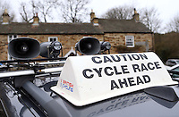 PICTURE BY VAUGHN RIDLEY/SWPIX.COM - Cycling - 2013 Premier Calander Road Race Series - Tour of the Reservoir, Stage 2 - Blanchland, Northumberland, England - 28/04/13 - Car Signage.