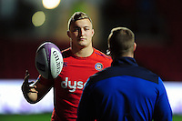 Jack Walker of Bath Rugby looks on during the pre-match warm-up. European Rugby Challenge Cup match, between Bristol Rugby and Bath Rugby on January 13, 2017 at Ashton Gate Stadium in Bristol, England. Photo by: Patrick Khachfe / Onside Images