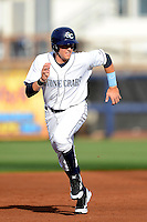 Charlotte Stone Crabs third baseman Richie Shaffer #28 during a game against the Palm Beach Cardinals at Charlotte Sports Park on April 7, 2013 in Port Charlotte, Florida.  Palm Beach defeated Charlotte 8-1.  (Mike Janes/Four Seam Images)
