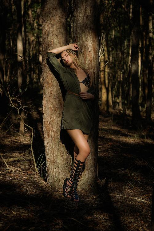 Anja from Mystique Model Management Photoshoot in Whites Hill Reserve, Brisbane, Queensland, Australia, Friday, March 18, 2016.<br /> Photo - @John Pryke Photographer<br /> Styling - Sandra Carvalho stylist<br /> MUA - @Danielle Rusko Makeup Artist Credits for Urban Jungle photoshoot <br /> Model Anja Christofferson from Mystique Models<br /> Photographer John Pryke http://www.johnpryke.com<br /> Mua Danielle Rusko www.daniellerusko.com.au <br /> Stylist Sandra Carvalho www.sandracarvalho.blog.wordpess.com <br /> <br /> Set 2<br /> Witchery dress <br /> Somedays loving bra<br /> Tengdahl belt<br /> Billabong headscarf <br /> Shoes from Novo