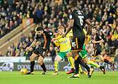 31st October 2017, Carrow Road, Norwich, England; EFL Championship football, Norwich City versus Wolverhampton Wanderers; Wolverhampton Wanderers midfielder Ruben Neves battles with Norwich City midfielder Harrison Reed