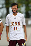 05 September 2015: Iona's Daniel Ocana Garcia (ESP). The Duke University Blue Devils hosted the Iona University Gaels at Koskinen Stadium in Durham, NC in a 2015 NCAA Division I Men's Soccer match. Duke won the game 2-1.