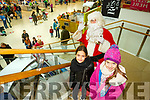 Santa Arriving On Saturday At Manor West Retail Centre. Pictured Santa with Sophie Culloty and Linda Parker