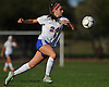 Vittoria Fuduli #24 of East Meadow chases after a loose ball during a Nassau County Class AA varsity girls soccer quarterfinal against Syosset at  East Meadow High School on Tuesday, Oct. 25, 2016. Syosset won by a score of 2-1.