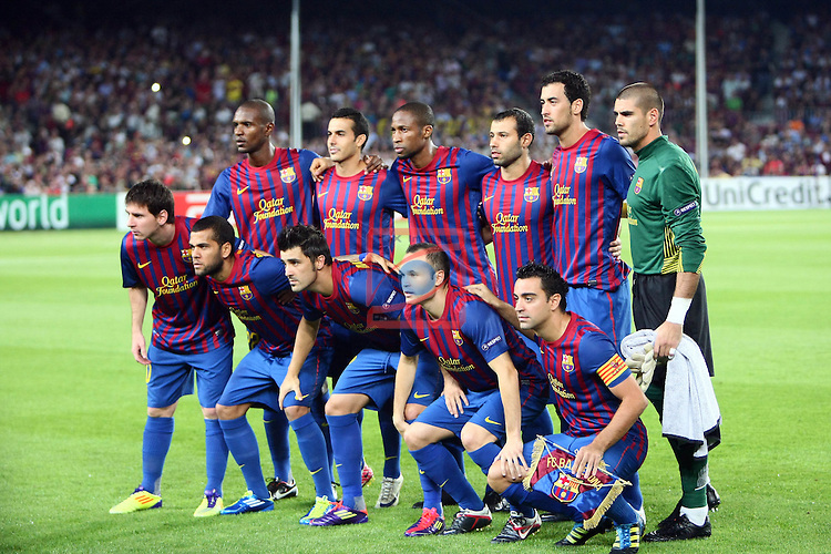 Team FC Barcelona. FC Barcelona vs AC Milan: 2-2 (UEFA Champions League - Season 1).