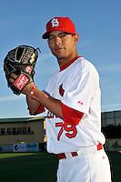 Mar 01, 2010; Jupiter, FL, USA; St. Louis Cardinals pitcher Eduardo Sanchez (79) during  photoday at Roger Dean Stadium. Mandatory Credit: Tomasso De Rosa/ Four Seam Images