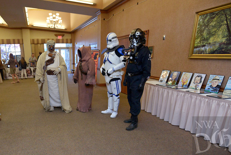 NWA Democrat-Gazette/BEN GOFF @NWABENGOFF<br /> Star Wars characters from the 501st Legion mingle on Saturday April 9, 2016 during the 29th annual Ozark Mountain UFO Conference at the Best Western Inn of the Ozarks in Eureka Springs.
