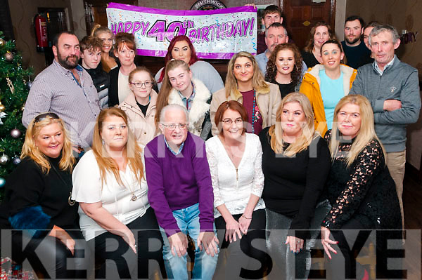 40th Birthday: Jodie Mulvihill, Tarbert, third from right seated celebrating her 40th birthday with family & friends at the Swankey Bar, Tarbert on Saturday night last.