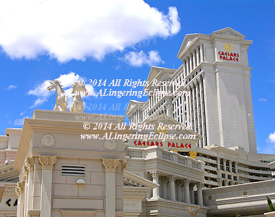 """""""From the moment you walk through the doors of Caesars Palace, you know you've arrived at the most prestigious resort in the world. Impeccable service. Luxury. All the little details that make the difference between an ordinary visit and a spectacular experience are yours.""""  http://www.harrahs.com/casinos/caesars-palace/casino-misc/hotel-overview.html.."""