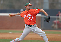 Danny Gil of the Miami Hurricanes vs. the Virginia Cavaliers: March 24th, 2007 at Davenport Field in Charlottesville, VA.  Photo by:  Mike Janes/Four Seam Images