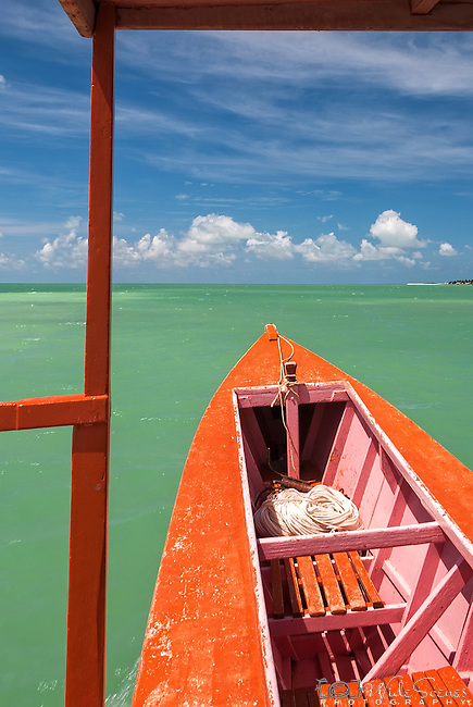 Cruising on the lagoon on a traditional boat.