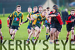 Listowels Darragh Mulvihill breaks through the Killarney defence during their u14 West Munster league clash in Killarney on Saturday