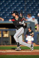 Richmond Flying Squirrels second baseman Brandon Bednar (16) at bat during a game against the Akron RubberDucks on July 26, 2016 at Canal Park in Akron, Ohio .  Richmond defeated Akron 10-4.  (Mike Janes/Four Seam Images)