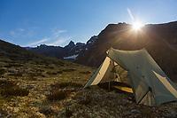 Mount Igikpak is the highest peak in the Schwatka Mountains region of the Brooks Range, Gates of the Arctic National Park, Alaska